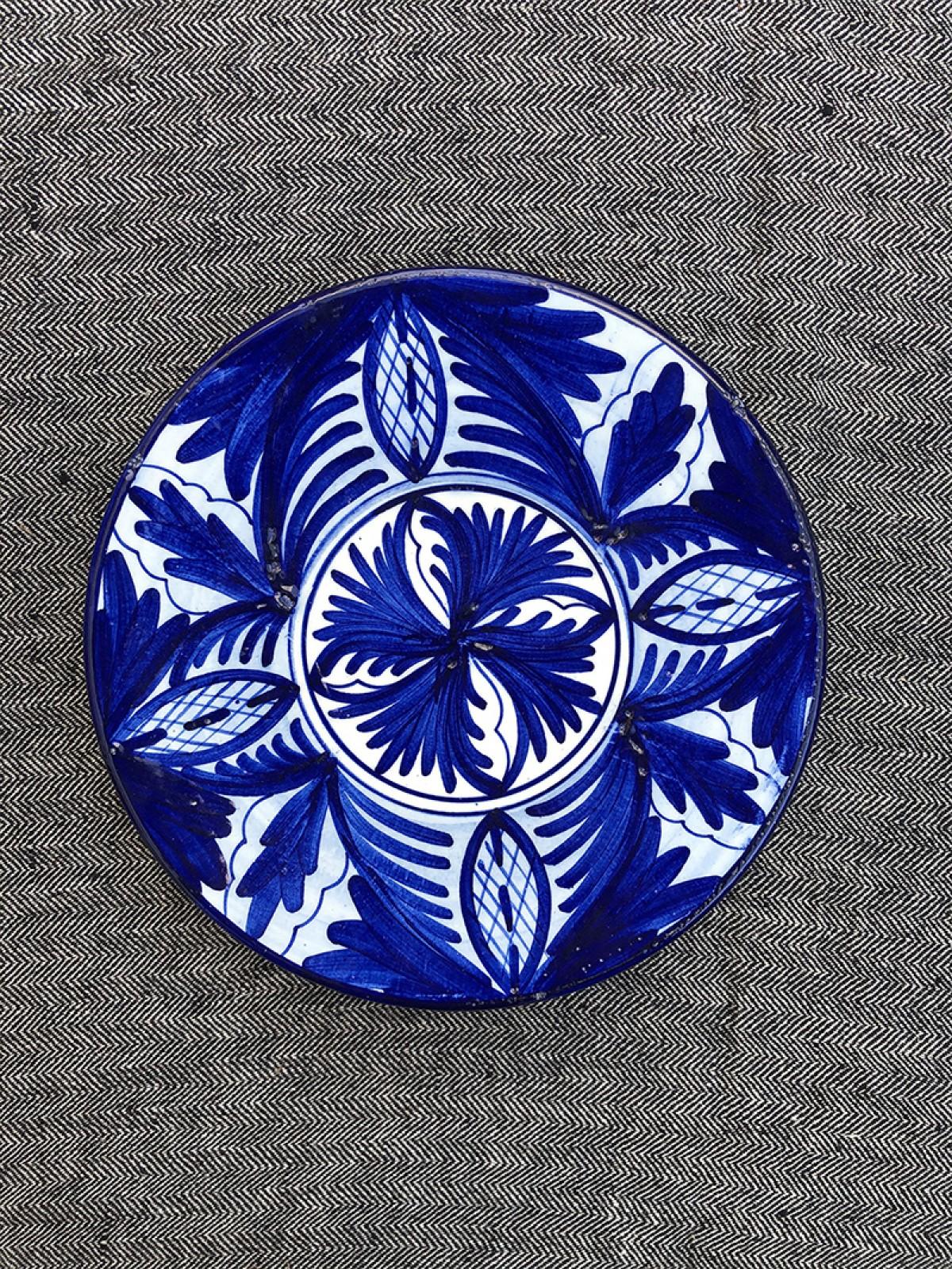 Assiette marocaine bleue